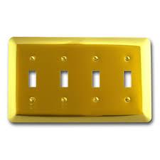 Travertine Switch Plates by Hampton Bay 4 Toggle Wall Plate Travertine Swp120 01 The Home Depot