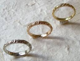 carved wedding band rings