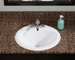 overmount sink on granite o2018 white overmount bathroom sink