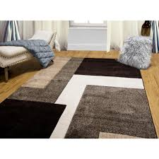 Black And Brown Area Rugs Home Dynamix Bazaar Zag Dark Brown 7 Ft 10 In X 10 Ft 1 In
