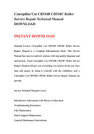 caterpillar cat cb534 b cb534c roller service repair technical manual u2026