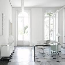 White Glass Desks by President Curved Glass And Metal Desk By Gallotti U0026 Radice