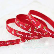 merry christmas ribbon 3 8 10mm green printed grosgrain ribbon merry christmas satin
