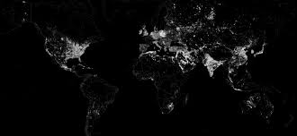 World Map At Night by Maps What Energy Sources Power The World
