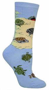 wheel house designs women u0027s sea turtle socks 9 11 blue at amazon