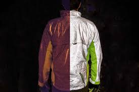 cycling jacket with lights ultimate visibility u0027torch u0027 cycling jacket shines at night