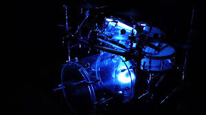 clear acrylic drumset with led light