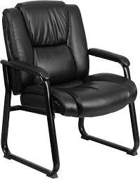 HERCULES 500 lb Capacity Big  Tall Black Leather Executive Office
