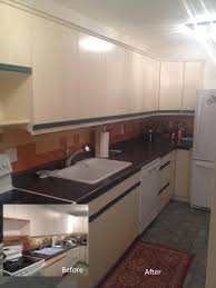 best paint for vinyl kitchen cabinets uk vinyl cabinets painting guys
