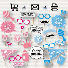 baby shower gender reveal reveal baby shower photo booth props baby shower