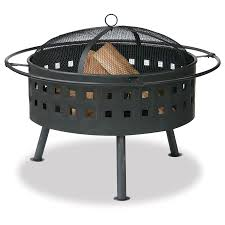 Allen Roth Fire Pit by Shop Blue Rhino 32 In W Bronze Steel Wood Burning Fire Pit At