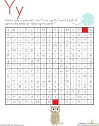 letter maze y worksheet education com