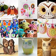 12 owl crafts what a hoot fun crafts kids