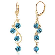 topaz earrings alarri 14k gold chandeliers earring with blue topaz