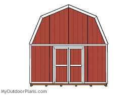16x16 gambrel shed plans myoutdoorplans free woodworking plans
