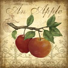 red apple wall decor apple art print red poster red apple fruit