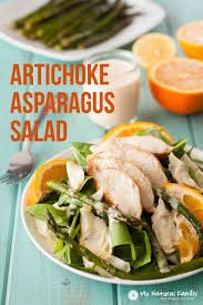healthy artichoke u0026 asparagus paleo chicken salad recipe