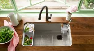 Faucets For Kitchen Sinks by Kitchen Sink Bowl Configurations Buyer U0027s Guide Kohler