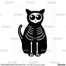 Halloween Cat Skeleton Cute Halloween Skeleton Cartoon