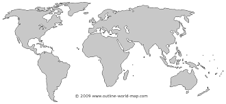 outline of world map map world outline major tourist attractions maps