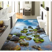3d Bathroom Floors by Aliexpress Com Buy 3d Pvc Flooring Custom Wall Sticker Tsea