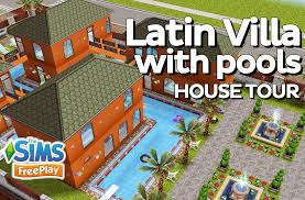 the sims freeplay latin villa with pools original design youtube