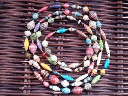 coloured bead necklace images Recycled paper bead necklace multicoloured beads jpg