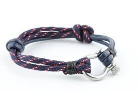 cord rope bracelet images Mens sea cord rope nautical sailing leather stainless steel JPG