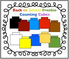 back to freebie counting cubes clipart for math by