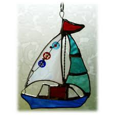 italian flag stain glass window ornaments sailboat stained glass