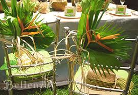 Tropical Party Themes - plantation party chairs