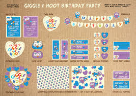 Giggle And Hoot Decorations Giggle And Hoot Printable Birthday Party Pack Diy