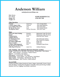 97 actor resumes how to make a beginner u0027s acting resume w