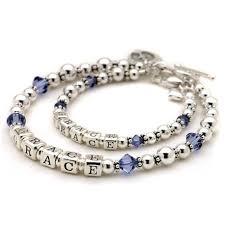 sterling silver crystal bracelet images Sterling silver crystal birthstone name bracelet set jpg