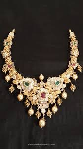 necklace choker design images Simple gold choker design south india jewels jpg