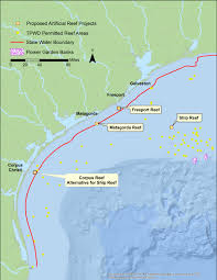 Map Of Gulf Coast Post Bp Oil Spill Restoration Projects Proposed For Texas Gulf