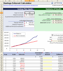 Saving Spreadsheet Free Savings Calculator For Excel