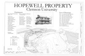 file cover sheet site plan and index hopewell plantation