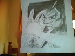drawing goku ssj4 kamehameha