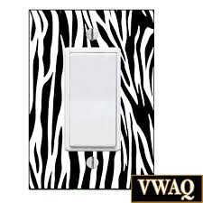 zebra print light switch decal plastic cover included rocker plate