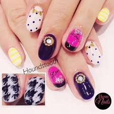 houndstooth nail art design homenails beautiful nails manicure