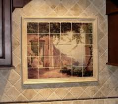 murals for kitchen backsplash kitchen backsplash tile mural beauteous kitchen murals backsplash