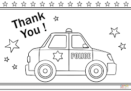 thank you police coloring page free printable coloring pages