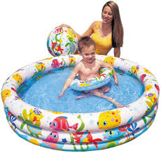 Intex Inflatable Pool Intex Inflatable Pool With Ball And Tube Included 59469 132 X