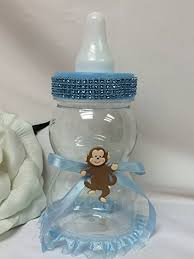 monkey centerpieces for baby shower buy blue baby jumbo fillable baby shower bottle with monkey