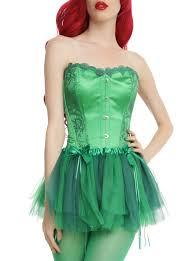 halloween corset dc comics poison ivy green lace corset topic