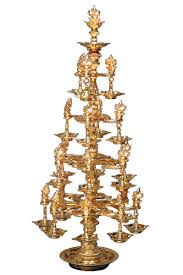 brass ornamental branches ganesh l sri kanchi
