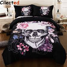 online get cheap skull bedding full aliexpress com alibaba group