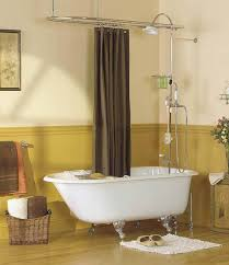 Roll Top Bath Shower Curtain Rail Clawfoot Tub And Shower Combo Google Search Bathrooms