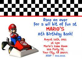 mario kart birthday invitations 28 images mario kart